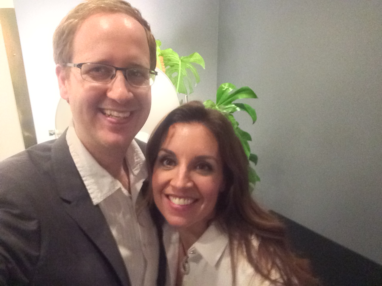 Luke with the lovely Sarah WIllingham from BBC's Dragons Den,  one of the judges of the Nectar Awards